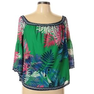 Flying Tomato Green Palm leaf Top